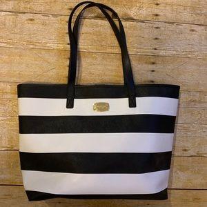 Black and white Michael Kors bag